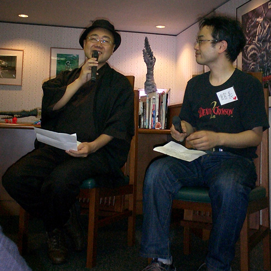 "Mr Sumi(right) and ""President Manabe (Left)"""